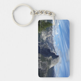Above Half Dome Double-Sided Rectangular Acrylic Key Ring