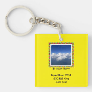 above the clouds 03 Single-Sided square acrylic key ring