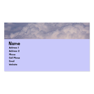 above the clouds 1 business card templates