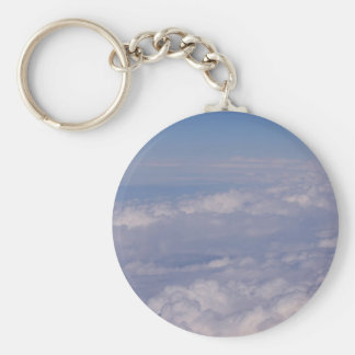 above the clouds 1 basic round button key ring
