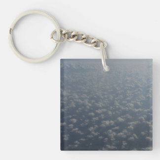 above the clouds 4 Double-Sided square acrylic key ring