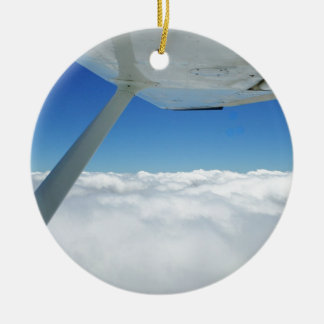 Above the clouds christmas ornament