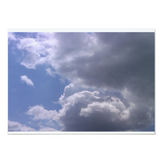 Above The Clouds 13 Cm X 18 Cm Invitation Card