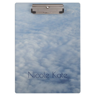 Above the clouds Monogram Clipboard