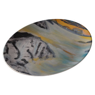 Above the clouds porcelain plates