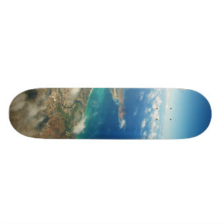 Above the clouds skate board deck