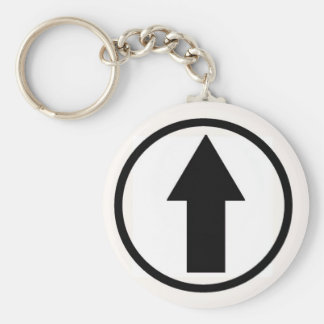 Above the influence - Black. Basic Round Button Key Ring