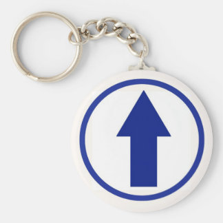 Above the influence - Blue Basic Round Button Key Ring