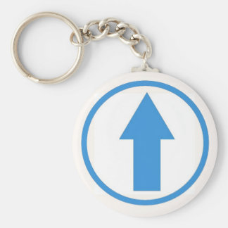 Above the influence - Light Blue Basic Round Button Key Ring