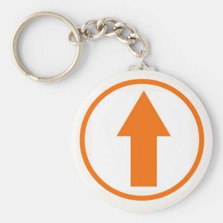 Above the Influence - Orange Basic Round Button Key Ring
