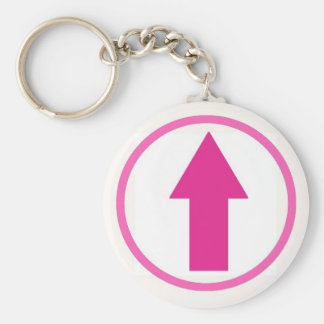Above the influence - Pink Basic Round Button Key Ring