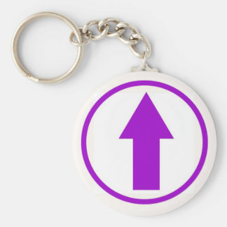 Above the influence - Purple Basic Round Button Key Ring