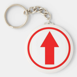 Above the influence - Red. Basic Round Button Key Ring