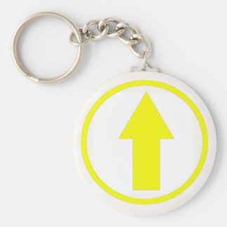 Above the influence - Yellow Basic Round Button Key Ring