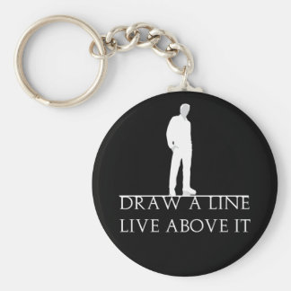 Above the Line Basic Round Button Key Ring