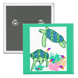 Above the rest sea turtle button