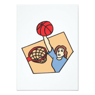 Above The Rim 13 Cm X 18 Cm Invitation Card