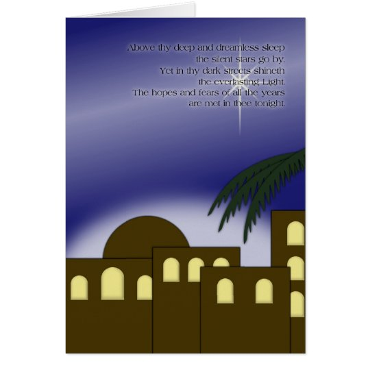 """Above thy deep"" Greeting Card"