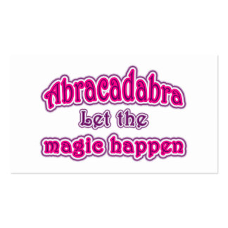 Abracadabra Double-Sided Standard Business Cards (Pack Of 100)