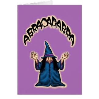 abracadabra halloween greetingcard card