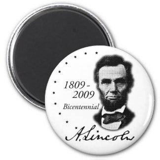 Abraham (Abe) Lincoln Bicentennial 6 Cm Round Magnet