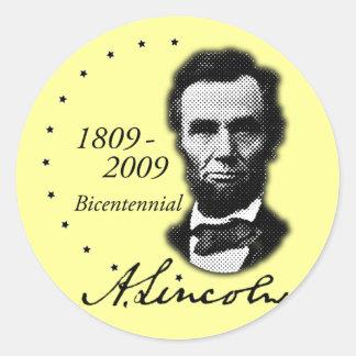 Abraham (Abe) Lincoln Bicentennial Classic Round Sticker