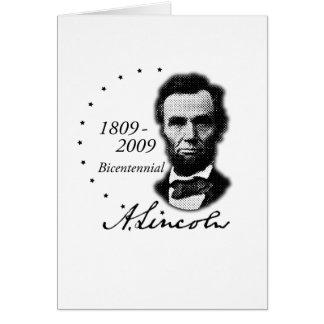 Abraham (Abe) Lincoln Bicentennial Greeting Card