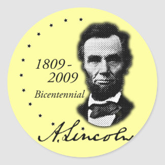 Abraham (Abe) Lincoln Bicentennial Round Sticker