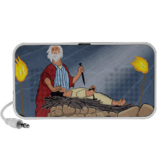 Abraham and Isaac sacrifice Notebook Speaker