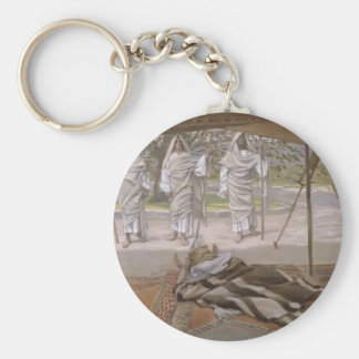 Abraham and the Three Angels by Giovanni Tiepolo Key Chain
