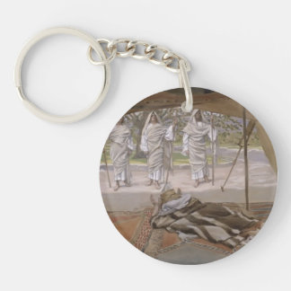 Abraham and the Three Angels by Giovanni Tiepolo Acrylic Keychain