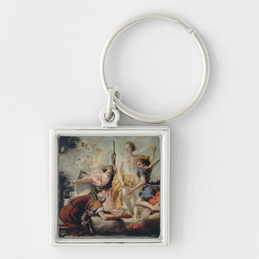 Abraham and the Three Angels Keychain