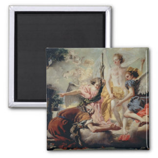 Abraham and the Three Angels Square Magnet