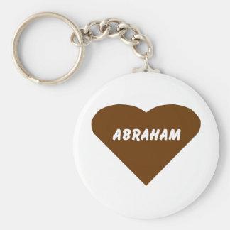 Abraham Basic Round Button Key Ring