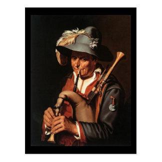 Abraham Bloemaert The Bagpiper Postcard