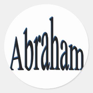 Abraham Classic Round Sticker