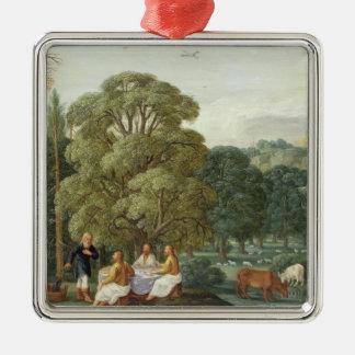 Abraham entertaining the Three Angels Christmas Ornament