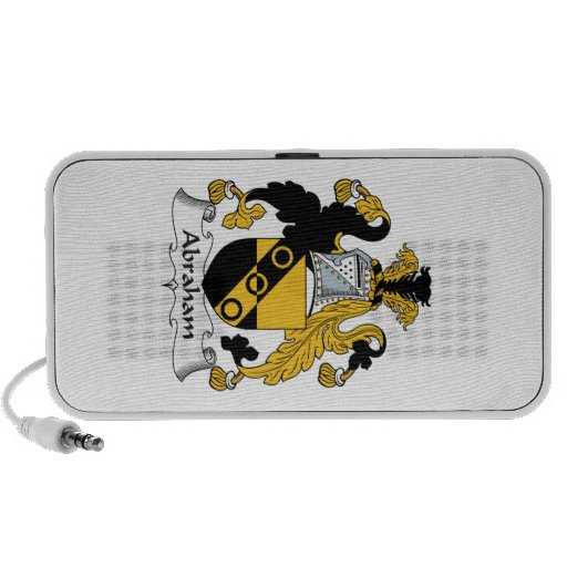 Abraham Family Crest Notebook Speakers