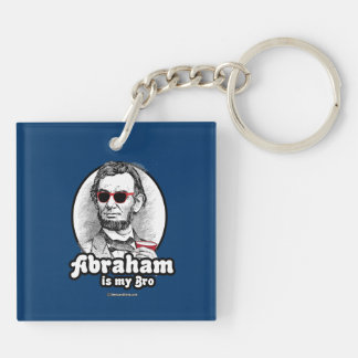 Abraham is my Bro -.png Double-Sided Square Acrylic Key Ring