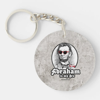 Abraham is my Bro Single-Sided Round Acrylic Key Ring