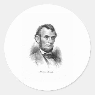 Abraham Lincoln 10 Classic Round Sticker
