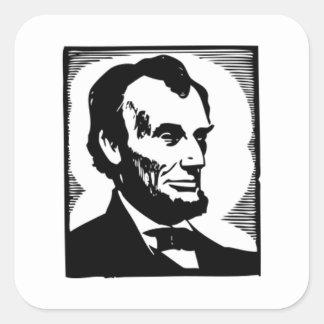 Abraham Lincoln, 16 President of the U.S. Square Sticker