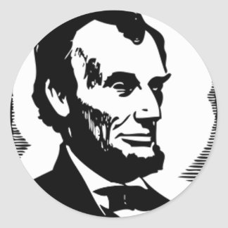 Abraham Lincoln, 16 President of the U.S. Round Stickers