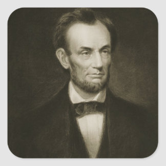 Abraham Lincoln 16th President of the United Stat Square Sticker