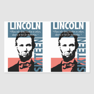 Abraham Lincoln 16th President Rectangle Stickers