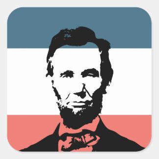 Abraham Lincoln 16th President Square Sticker