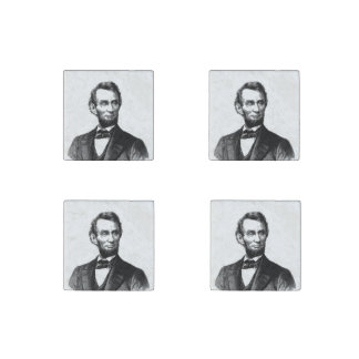 """Abraham Lincoln 1865 """"The great emancipator"""" Stone Magnet"""