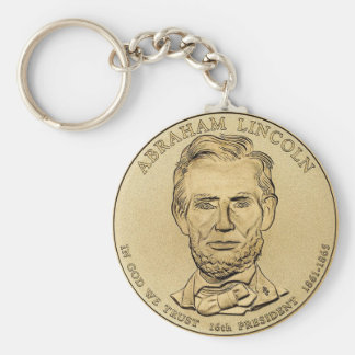 Abraham Lincoln $1 Presidential Coin Keychain
