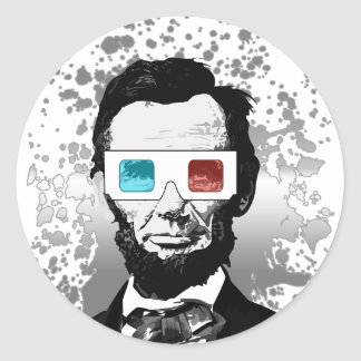 Abraham Lincoln - 3D (2) Stickers
