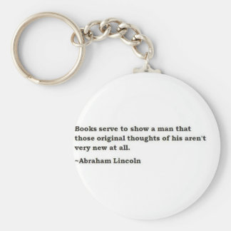 Abraham Lincoln 7 Basic Round Button Key Ring
